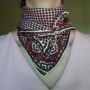 Accessories - Vintage Italian Silk Scarf